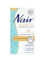 Nair Facial Wax Strips with Argan Oil & Jojoba Oil