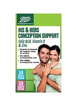 Boots Pharma his&hers conception suppo