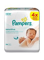 Pampers Sensitive Baby Wipes - 224 Wipes 4x56Packs