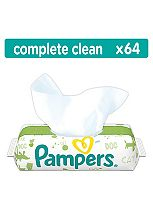 Pampers Natural Clean Baby Wipes - 64Pack