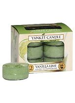 Yankee Candle Classic Tealight Candles in Vanilla Lime 12 Pack