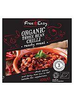 Free & Easy Organic Three Bean Chilli Ready Meal 400g