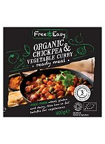 Free & Easy Organic Chickpea & Vegetable Curry Ready Meal 400g