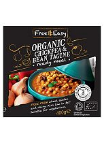 Free & Easy Organic Chickpea & Bean Tagine Ready Meal 400g