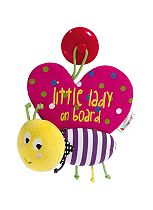 Mamas & Papas Babyplay Little Lady on Board Sign Toy - Butterfly