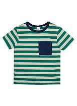 Boys Green Stripe T-shirt - Mini Club