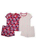 Girls 2 Pack Pyjamas Set - Mini Club