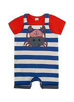 Baby Boy Jersey Bib Shorts - Mini Club