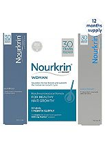 Nourkrin WOMAN 12 Month Bundle with Free Shampoo and Conditioner