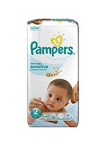 Pampers New Baby Sensitive Nappies Size 2 Mini Essential Pack - 48 Nappies