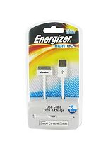 Energizer High Tech USB Charge and Sync Cable for iPhone 4/ iPod/ iPad- White