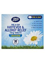 Boots One-a-Day Allergy Relief 10mg Tablets - 30 Days Supply