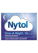 Nytol One-A-Night 50mg Tablets - 20 Tablets