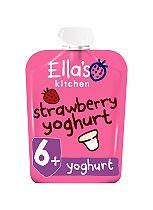 Ella's Kitchen Strawberry Yummy Yoghurt Greek Style from 6+ Months 90g