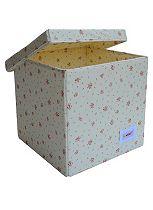 Minene Storage Cube - Cream Flower