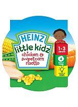 Heinz 1-3 Years Little Kidz Chicken & Sweetcorn Risotto 230g