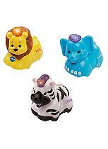 Toot-Toot Animals 3 Pack Elephant, Zebra and Lion