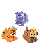 Toot-Toot Animals 3 Pack Tiger, Hippo and Monkey