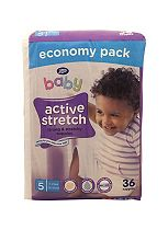 Boots Baby Active Stretch Nappies Size 5 Junior Economy Pack - 36 Nappies