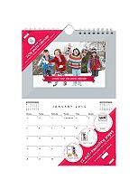 Shot 2 Go Personalised Hanging Calendar 2015