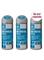 Boots COD LIVER OIL 1000 mg 180 capsules / 3 x 60 capsules