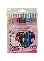'Hello Kitty Colouring & Activity 12 Twist-Up Crayons