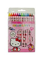 'Hello Kitty Colouring & Activity 12 Twist-Up Coloured Pencils
