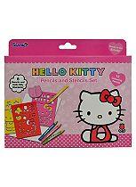 Hello Kitty C&A Pencils & Stencils Set