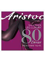 Aristoc 80 Denier Microfibre Opaque Black Tights 1 Pair Pack - S/M