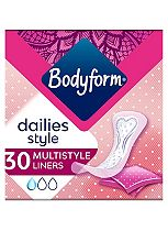 Bodyform Daily Fresh Liners Normal Multistyle Wrapped x30