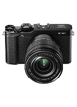 Fujifilm X-M1 Compact System Camera with XC16-50mm Lens (16MP, 3 inch LCD)- Black