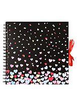 Anker Black Hearts Scrapbook Photo Album- 40 sheets