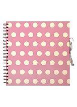 Anker Pink Polka Dot Scrapbook Photo Album- 40 sheets