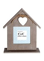 Anker Wooden House Photo Frame- 4 x 4