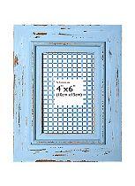 Anker Blue Washed Wood Photo Frame- 6 x 4