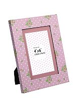 Pink Floral Photo Frame- 7 x 5