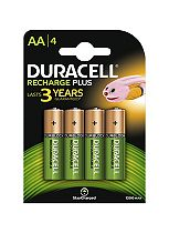 Duracell Rechargable AA 1300 mAh Batteries x4