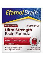 Efamol Brain. ULTRA STRENGTH BRAIN FORMULA. 30 capsules