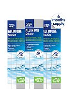 Boots All In One Contact Lens Solution - 6 x 240ml (6 Months Supply)