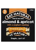 Eat Natural Fruit & Nut Bars Almond & Apricot with a Yoghurt Coating 3 x 50g