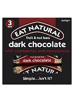 Eat Natural Fruit & Nut Bars Dark Chocolate with Cranberries and Macadamias 3 x 45g