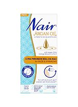 Nair Argan Oil Ultra Precision Roll-on Wax for Face & Eyebrows 15ml