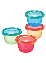 Nuby Garden Fresh Food Pots with Lids