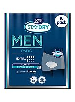 Boots Staydry for Men Extra - 180 Pads (18 x 10 Pads)