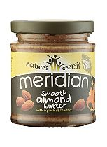 Meridian Smooth Almond Butter with a pinch of salt 170g