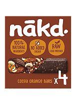Nakd Wholefood Cocoa Orange 35g Bars  4 x 35g