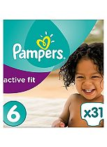 Pampers Active Fit Size 6 (Extra Large) Essential Pack 31 Nappies