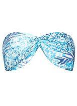 Coral Bay Aqua Animal bandeau bikini top