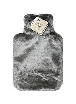 Boots Hot Water Bottle Grey Fur