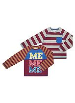 Boys 2 Pack Long Sleeved T-Shirts - Mini Club
